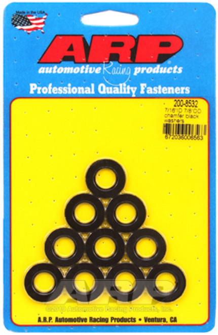 ARP 7/16in ID 7/8inOD Black Washers (Pack of 10)