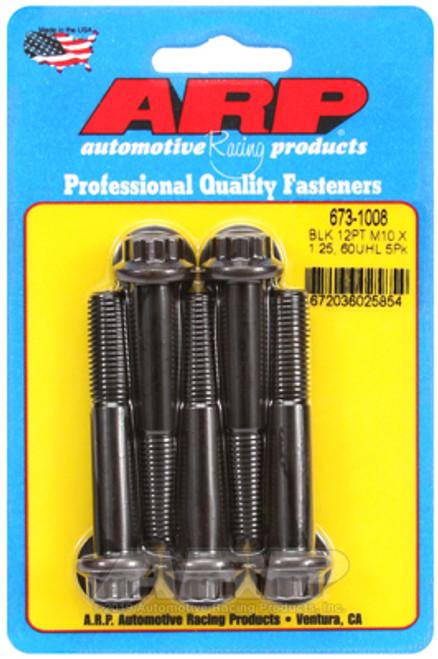 ARP M10 x 1.25 x 60 12pt Black Oxide Bolts (5/pkg)