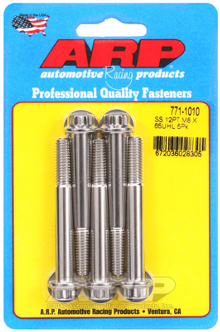 ARP M8 x 1.25 x 65 12pt SS Bolts (5/pkg)
