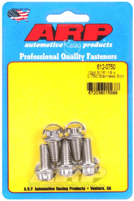 ARP 5/16in x 18 - .725in UHL 12pt SS Bolt Kit (5/pkg)
