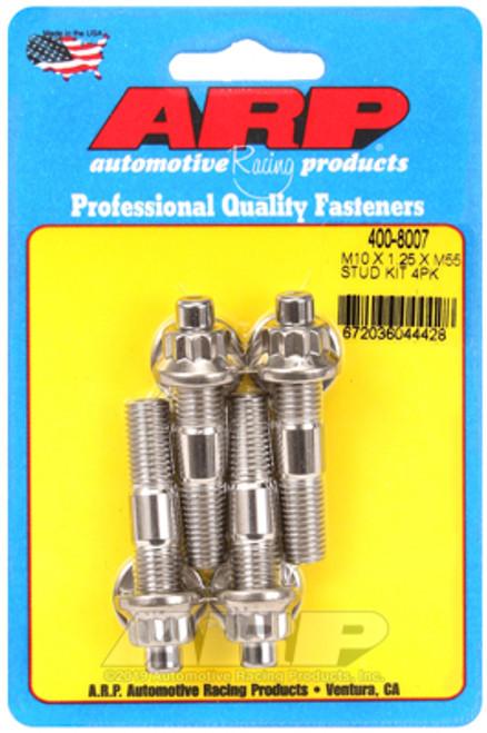 ARP M10 x 1.25 x 55mm Broached 4 Piece Stud Kit