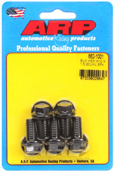 ARP M10  x 1.50 x 20 Hex Black Oxide Bolts (5/pkg)