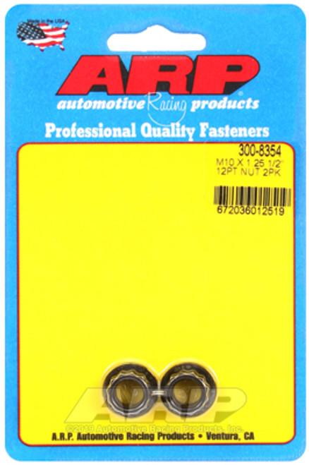 ARP M10 x 1.25 12pt Nut Kit Pkg of 2