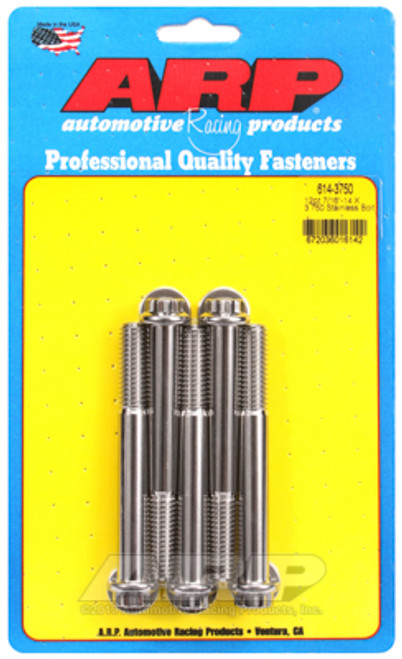 ARP 7/16in - 14 x 3.750 12pt SS Bolts (5/pkg)