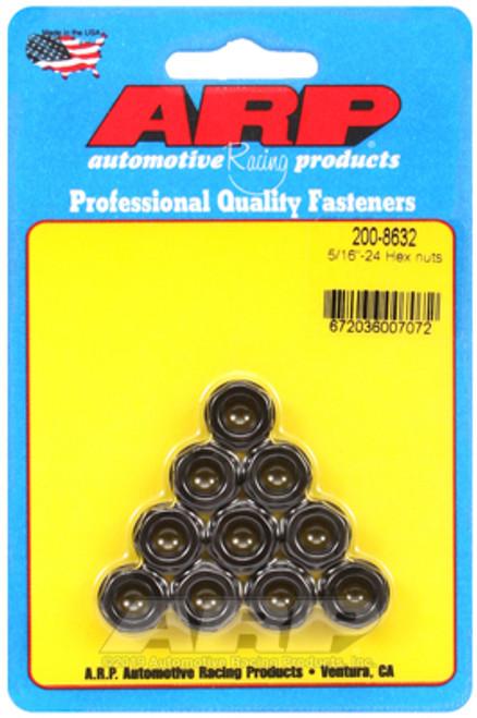 ARP 5/16 - 24 Hex Nut Kit (10 Pkg) Black Oxide