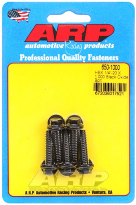 ARP 1/4-20 X 1.000 Hex Black Oxide Bolts