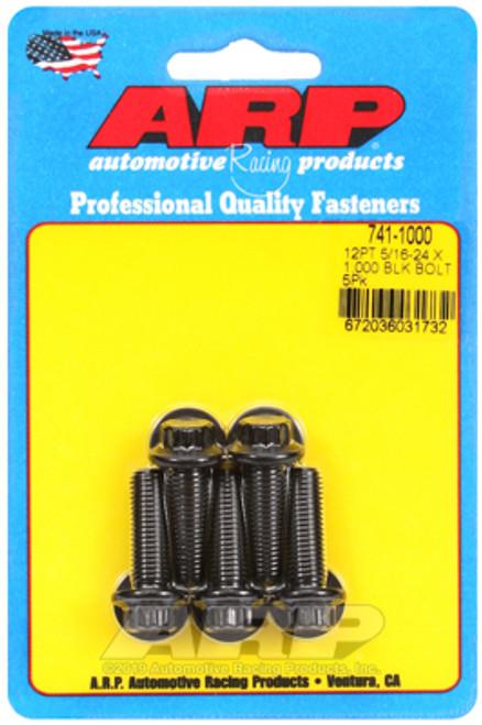 ARP 5/16-24 x 1.000 12pt Black Oxide Bolts
