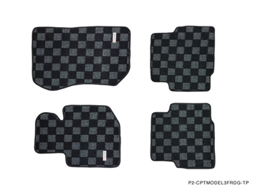 P2M Front and Rear Floor Mats for BMW E36 2 Door E-Series