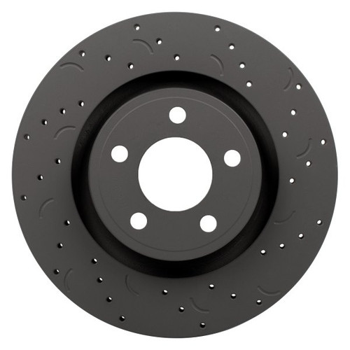 Hawk Talon 1996 Toyota 4Runner From 11/95 Drilled and Slotted Front Brake Rotor Set - HTC5297