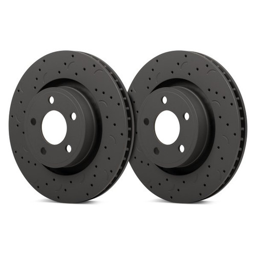 Hawk Talon 2009 Audi A6 Quattro Armoured Vehicle Drilled and Slotted Front Brake Rotor Set - HTC4840