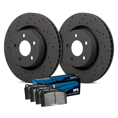 Hawk Talon HPS Drilled and Slotted Front Brake Kit with High Performance Street Pads - HKC4163.232F