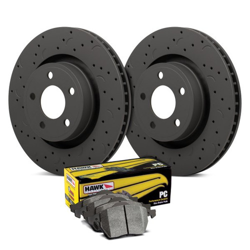 Hawk Talon PC Drilled and Slotted Front Brake Kit with Performance Ceramic Pads - HKC4909.387Z