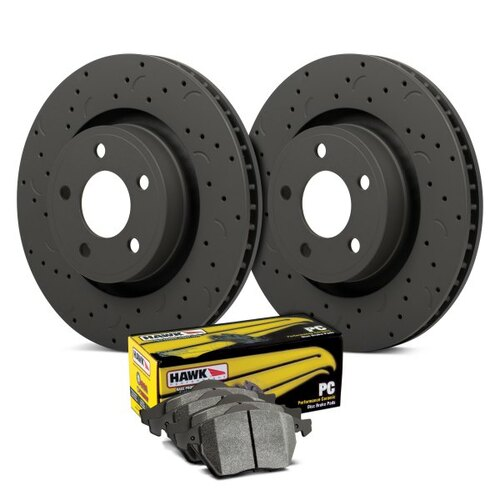 Hawk Talon PC Drilled and Slotted Rear Brake Kit with Performance Ceramic Pads - HKC4938.648Z