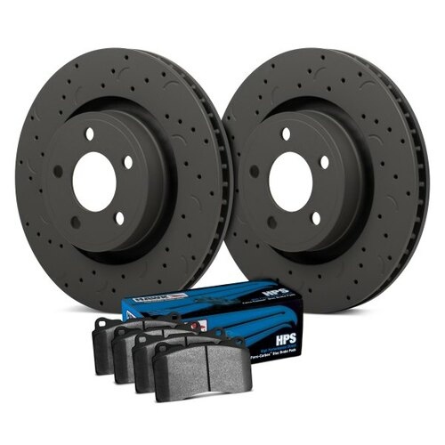 Hawk Talon HPS Drilled and Slotted Front Brake Kit with High Performance Street Pads - HKC5297.315F