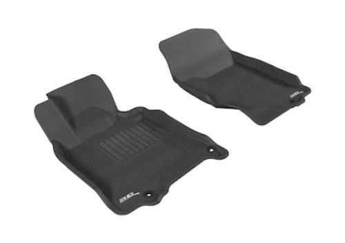 3D MAXpider Kagu 1st Row Floormat - Black for 2007-2015 Infiniti Q40/Q60/G35/37