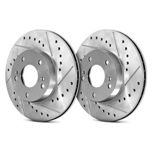 StopTech Select Sport Drilled and Slotted Rear Left Brake Rotor for 14-16 Infiniti Q60