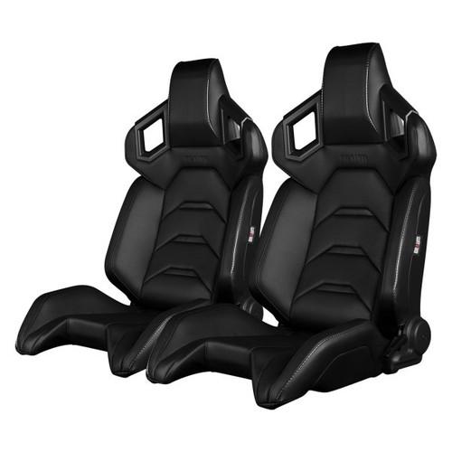 Braum Alpha X Series Sport Seats (Pair) - Black