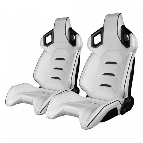 Braum Alpha X Series Sport Seats (Pair) - White / Black