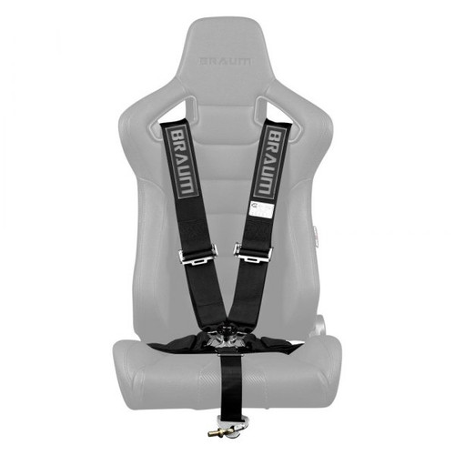 """Braum 5 Point 3"""" SFI Approved Racing Harness - Black"""