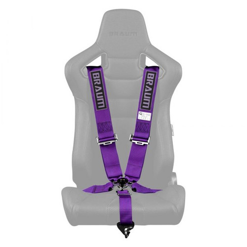 """Braum 5 Point 3"""" SFI Approved Racing Harness - Purple"""