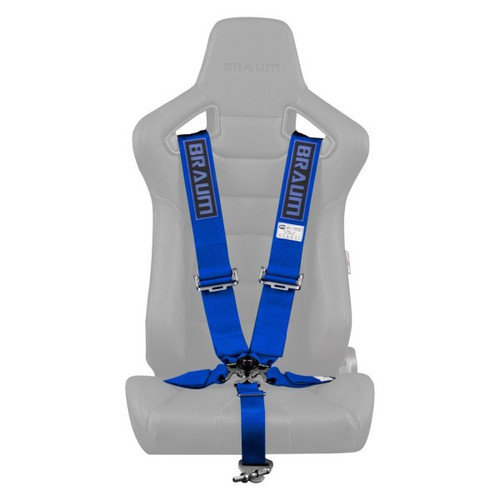 """Braum 5 Point 3"""" SFI Approved Racing Harness - Blue"""