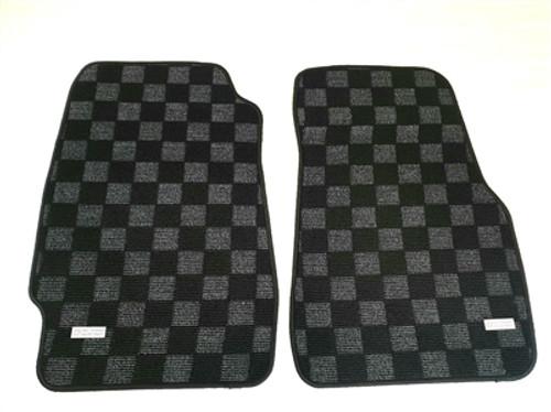 P2M Race Floor Mats Dark Grey (Extreme Coverage) for Honda Civic EG6/EF/CRX