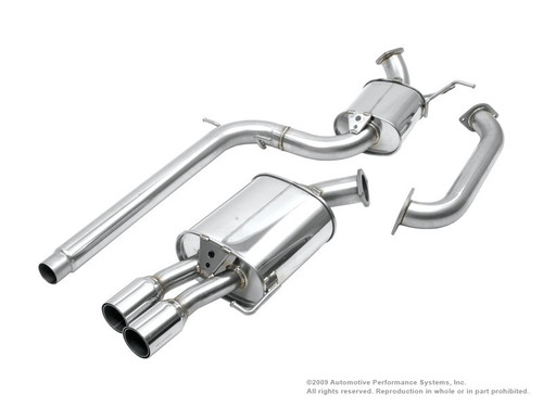 Neuspeed Cat-Back Exhaust System 70mm tubing 80mm twin double-wall straight tips 30.10.76