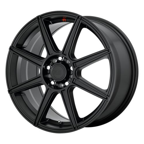 MOTEGI CS8 16x7 5x110.00/5x115.00 SATIN BLACK (40 mm)