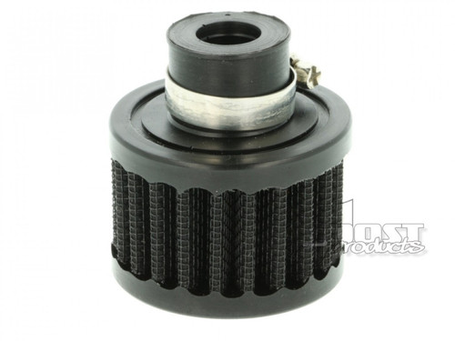 """BOOST Products Crankcase Breather Filter with 19mm (3/4"""") ID Connection, Black"""