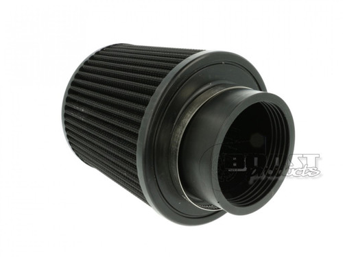 """BOOST Products Universal Air Filter 76mm (3"""") ID Connection, 127mm (5"""") Length, Black"""