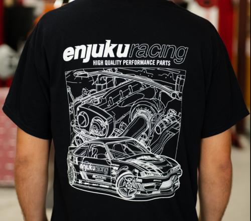 Enjuku Racing T-Shirt S14 RB32DET Black & White Outline