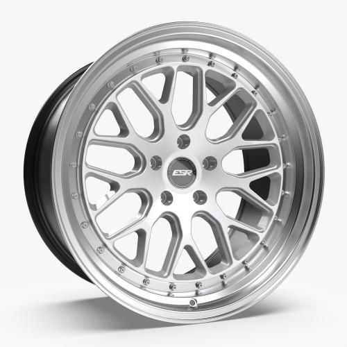 ESR Wheels CS1 18X10.5 5X108 (CUSTOM DRILL) +22 HYPER SILVER FACE MACHINED LIP