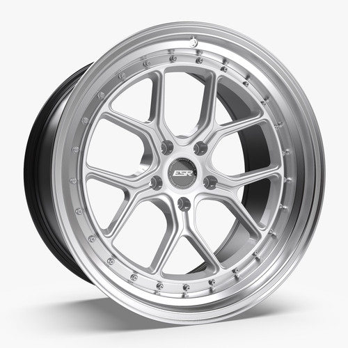ESR Wheels CS2 18X9.5 5X112 (CUSTOM DRILL) +35 HYPER SILVER FACE MACHINED LIP