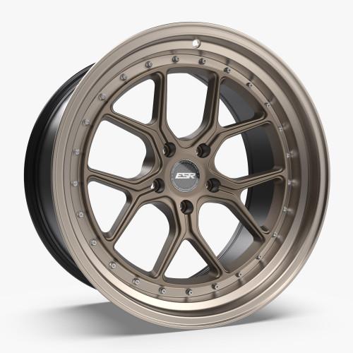 ESR Wheels CS2 18X9.5 5X112 (CUSTOM DRILL) +35 MATTE BRONZE FACE MACHINED LIP