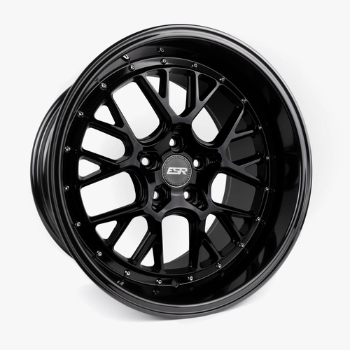 ESR Wheels CS11 18X10.5 5X115 (CUSTOM DRILL) +22 GLOSS BLACK FACE GLOSS BLACK LIP