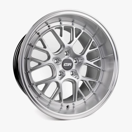 ESR Wheels CS11 18X9.5 5X110 (CUSTOM DRILL) +15 HYPER SILVER FACE MACHINED LIP