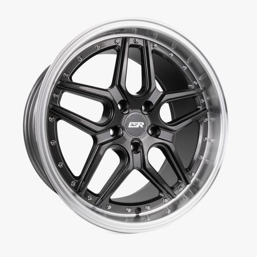 ESR Wheels CS15 18X8.5 5X114.3 +30 GLOSS GRAPHITE FACE MACHINED LIP