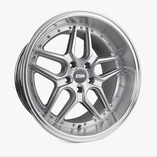 ESR Wheels CS15 18X9.5 5X110 (CUSTOM DRILL) +22 HYPER SILVER FACE MACHINED LIP