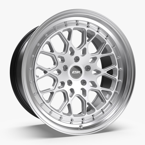 ESR Wheels CS3 18X8.5 5X110 (CUSTOM DRILL) +30 HYPER SILVER FACE MACHINED LIP