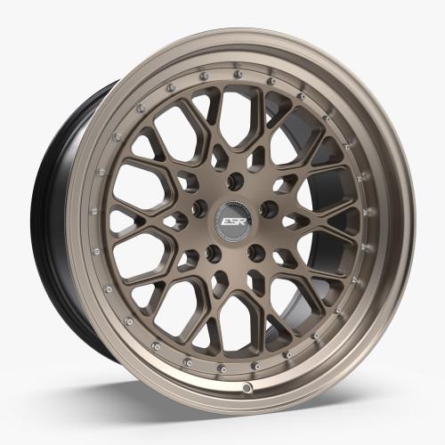 ESR Wheels CS3 18X8.5 5X115 (CUSTOM DRILL) +30 MATTE BRONZE FACE MACHINED LIP