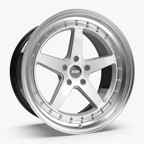 ESR Wheels CS5 18X9.5 5X112 (CUSTOM DRILL) +35 HYPER SILVER FACE MACHINED LIP