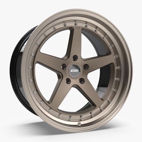 ESR Wheels CS5 18X10.5 5X112 (CUSTOM DRILL) +22 MATTE BRONZE FACE MACHINED LIP