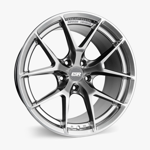 ESR Wheels RF2 18X9 5X114.3 +30 HYPER BLACK FACE HYPER BLACK LIP