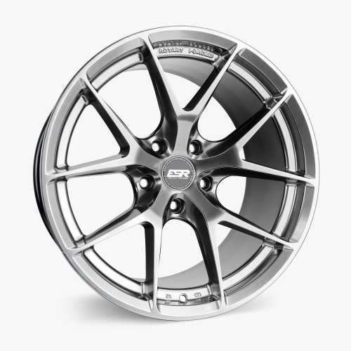ESR Wheels RF2 18X9.5 5X112 (CUSTOM DRILL) +35 HYPER BLACK FACE HYPER BLACK LIP