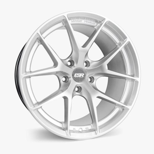ESR Wheels RF2 18X9.5 5X112 (CUSTOM DRILL) +22 HYPER SILVER FACE HYPER SILVER LIP