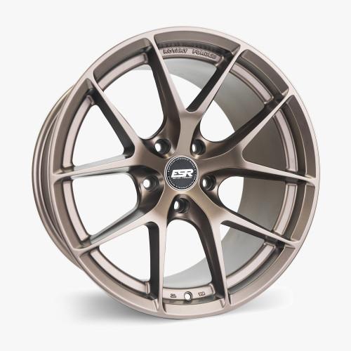 ESR Wheels RF2 18X9.5 5X120 (CUSTOM DRILL) +22 MATTE BRONZE FACE MATTE BRONZE LIP