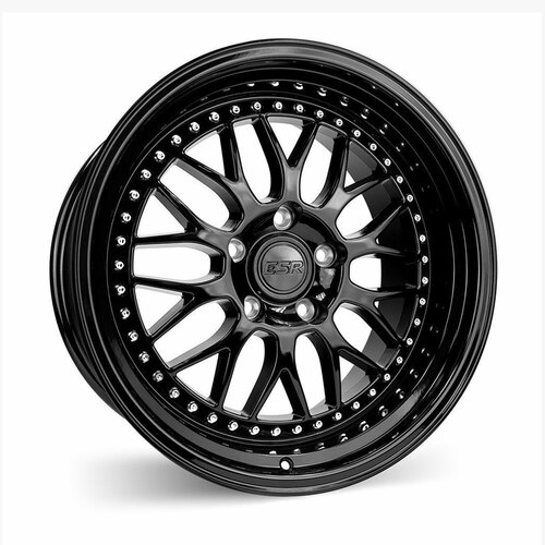 ESR Wheels SR01 19X10.5 5X114.3 +22 GLOSS BLACK FACE GLOSS BLACK LIP