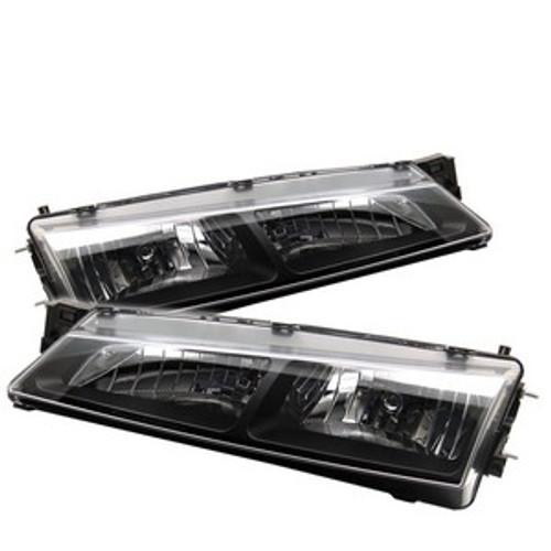Spyder Nissan 240SX 97-98 Crystal Headlights Black HD-YD-N294-BK