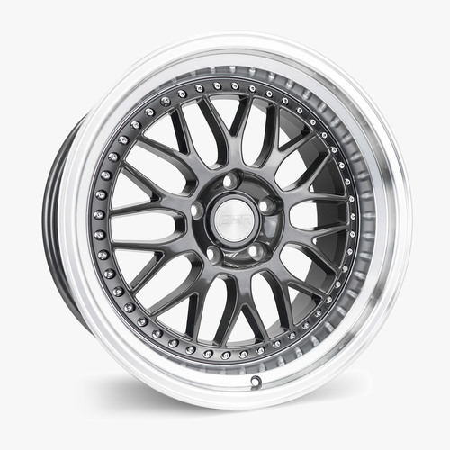 ESR Wheels SR01 19X9.5 5X120 (CUSTOM DRILL) +15 GLOSS GRAPHITE FACE MACHINED LIP