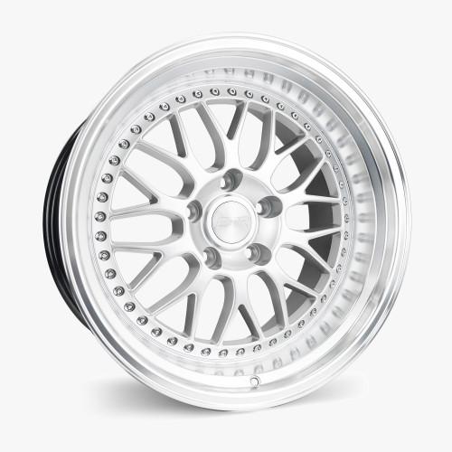 ESR Wheels SR01 18X8.5 5X108 (CUSTOM DRILL) +30 HYPER SILVER FACE MACHINED LIP